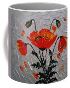 Red Poppies Original Palette Knife Coffee Mug