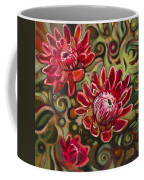 Red Proteas Coffee Mug by Jen Norton