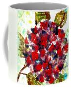 Red Purple Flower Coffee Mug