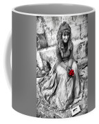 Red Red Rose In Black And White Coffee Mug