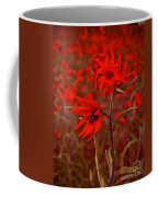 Red Red Wild Flowers Coffee Mug