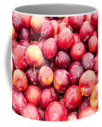 Red Ripe Plums Coffee Mug