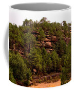 Red Rock Green Forest No3 Coffee Mug