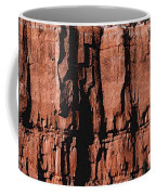 Red Rock Wall Coffee Mug