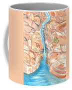 Red Rocks Of Water Coffee Mug