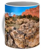 Red Rocks Over White Coffee Mug