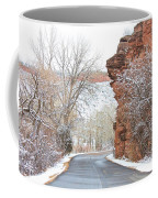 Red Rocks Winter Landscape Drive Coffee Mug by James BO  Insogna