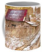 Red Roof In The Snow  Coffee Mug