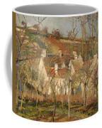 Red Roofs In A Village In Winter Coffee Mug
