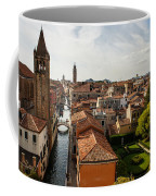 Red Roofs Of Europe - Venetian Canal Palaces Gardens And Courtyards Coffee Mug
