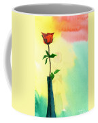 Red Rose 1 Coffee Mug by Anil Nene