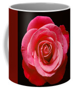 Red Rose On Black Coffee Mug