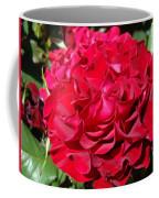 Red Rose Art Prints Big Roses Floral Coffee Mug