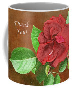 Red Rose Autumn Texture Thank-you  Coffee Mug