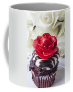 Red Rose Cupcake Coffee Mug