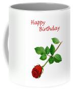 Red Rose Happy Birthday  Coffee Mug