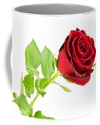 Red Rose On White Coffee Mug