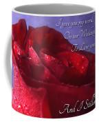Red Rose Romantic Greeting Card Coffee Mug