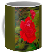 Red Rose With Bud Coffee Mug