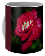 Red Rose With Water Drops Coffee Mug