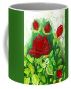 Red Roses From The Garden Coffee Mug