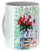 Red Roses In Water Coffee Mug