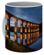 Red Royal Border Bridge Coffee Mug