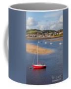 Red Sail Boat Coffee Mug