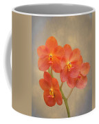 Red Scarlet Orchid On Grunge Coffee Mug by Rudy Umans