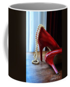 Red Shoes And Pearls Coffee Mug