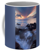 Red Sky Over Lanai Coffee Mug by Mike  Dawson