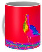 Red Sky Seagull Coffee Mug