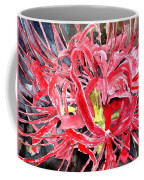 Red Spider Lily Flower Painting Coffee Mug