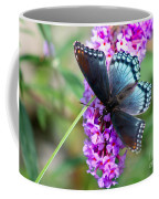 Red Spotted Purple Butterfly On Butterfly Bush Coffee Mug