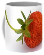 Red Strawberry With Stem Coffee Mug