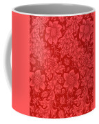 Red Sunflower Wallpaper Design, 1879 Coffee Mug