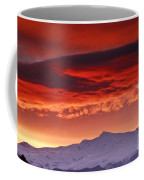 Red Sunrise Over National Park Sierra Nevada Coffee Mug