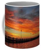 Red Sunset Pier Seaside Nj Coffee Mug