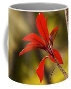 Red Ti Leaves Coffee Mug