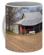 Red Tractor In A Tin Roofed Shed Coffee Mug
