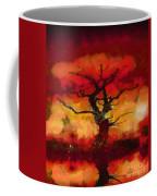Red Tree Of Life Coffee Mug by Pixel Chimp