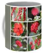Red Tropicals Collage Coffee Mug
