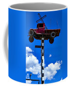 Red Truck With Cross Coffee Mug