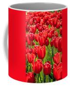 Red Tuilip Bed Coffee Mug