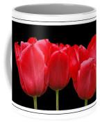 Red Tulip Triptych Coffee Mug