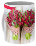 Red Tulip Weddding Bouquets Coffee Mug