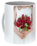 Red Tulip Wedding Bouquet Coffee Mug