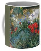 Red Tulips And Geese  Coffee Mug