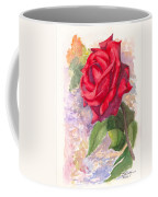 Red Valentine Rose Coffee Mug