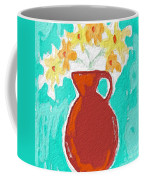 Red Vase Of Flowers Coffee Mug